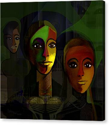 051 - Out Of The Dark Canvas Print by Irmgard Schoendorf Welch