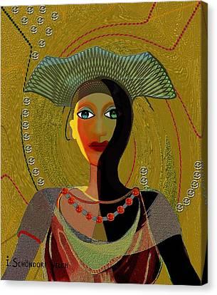 052 -   Nana Golden Canvas Print
