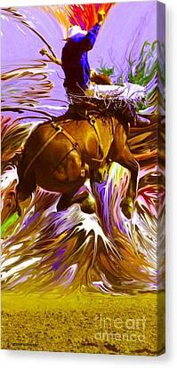 Giselaschneider Canvas Print - 06 Bucking Horse ... Montana Art Photo by GiselaSchneider MontanaArtist