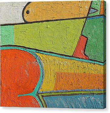 A202 Oil On Canvas 24 X 24 2016 Canvas Print by Radoslaw Zipper