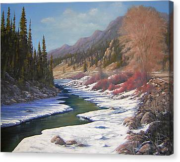 060328-2822    Remnants Of Winter   Canvas Print by Kenneth Shanika