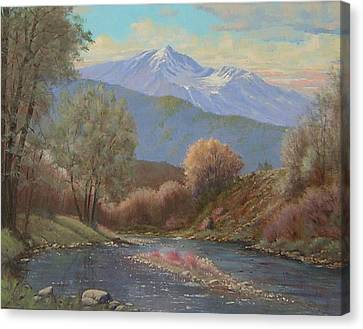 060630-1814  The Land Awakes In Spring   Canvas Print by Kenneth Shanika
