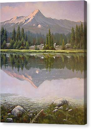 060923-2430  Reflections At Days End   Canvas Print by Kenneth Shanika