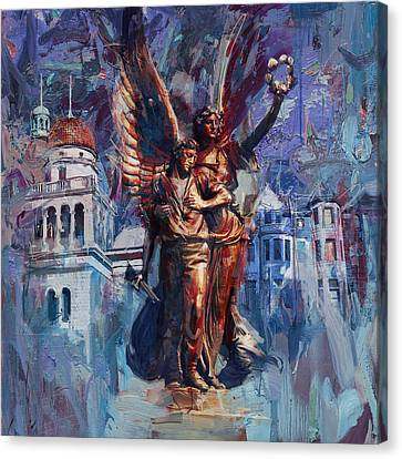 064 Spirit Of The Confederacy Monument Canvas Print by Maryam Mughal