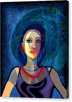 066 - Woman With   Necklace Canvas Print
