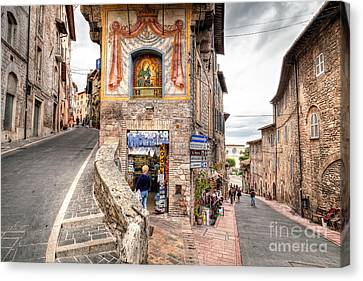 0755 Assisi Italy Canvas Print