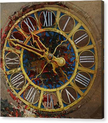 082 Tiffany Clock Canvas Print by Mahnoor Shah