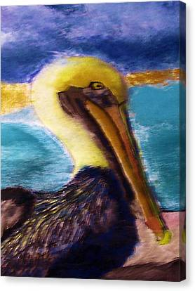091415 Pelican Canvas Print by Garland Oldham