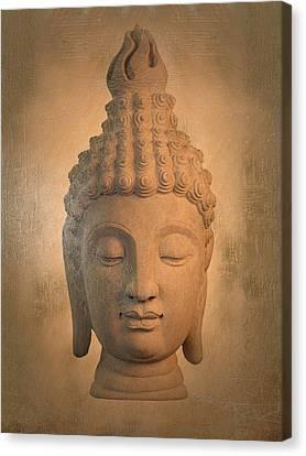 Antique Oil Effect Buddha Sukhothai ,, Canvas Print by Terrell Kaucher