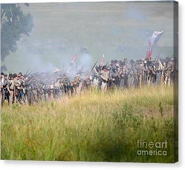 Gettysburg Confederate Infantry 7503c Canvas Print