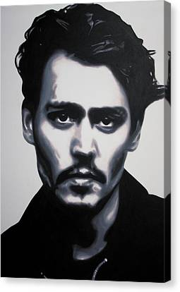 - Johnny - Canvas Print by Luis Ludzska