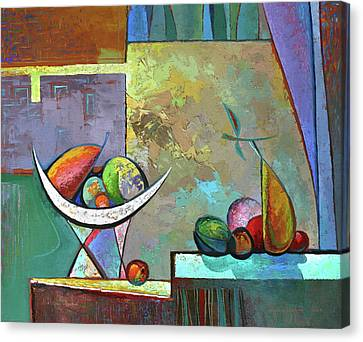 Still Life With Frutit Canvas Print by Alexey Kvaratskheliya