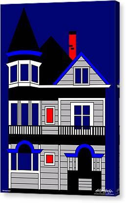 1080 Haight Street Canvas Print by Asbjorn Lonvig