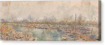 10879 Clearwater Marina Canvas Print