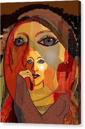 1636 - Quiet Observation 2017 Canvas Print by Irmgard Schoendorf Welch