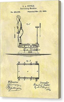 Nike Canvas Print - 1880 Exercise Machine Patent by Dan Sproul