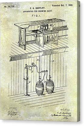 1902 Beer Draft Patent Canvas Print