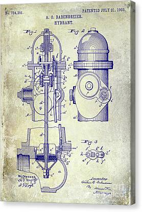 1903 Fire Hydrant Patent Canvas Print by Jon Neidert