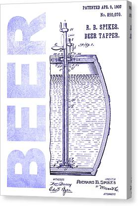 1907 Beer Tapper Patent Blueprint Canvas Print
