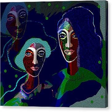 1916 - Lovers Or Friends 2017 Canvas Print by Irmgard Schoendorf Welch
