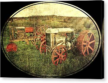 Vintage 1923 Fordson Tractors Canvas Print by Mark Allen
