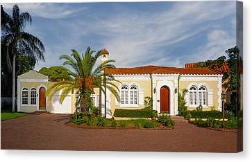 1925 Florida Venetian Style Home - 13 Canvas Print by Frank J Benz