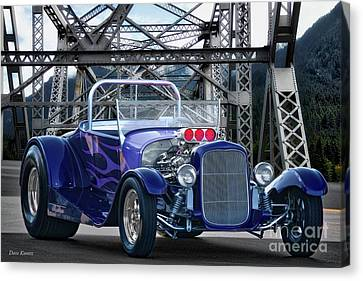 1927 Ford Model T Roadster Canvas Print by Dave Koontz