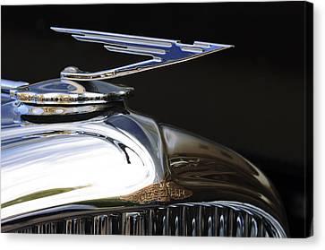 1929 Duesenberg Model J Hood Ornament Canvas Print by Jill Reger