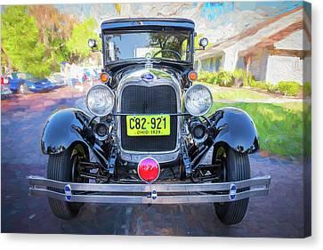 1929 Ford Model A Tudor Police Sedan  Canvas Print