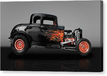 1932 Ford 5 Window Canvas Print by Frank J Benz