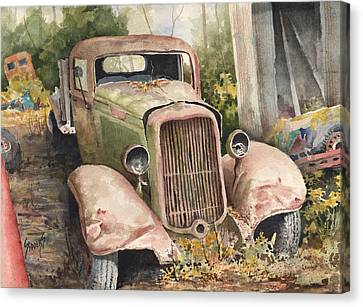 1934 Dodge Half-ton Canvas Print by Sam Sidders