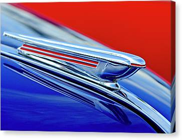 1938 Chevrolet Hood Ornament 2 Canvas Print by Jill Reger