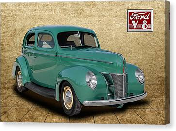 1940 Ford Coupe Canvas Print by Frank J Benz