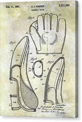 1941 Baseball Glove Patent Canvas Print by Jon Neidert