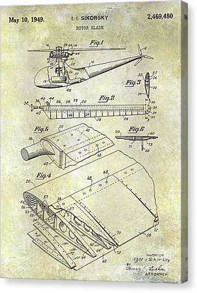 1949 Helicopter Patent Canvas Print by Jon Neidert