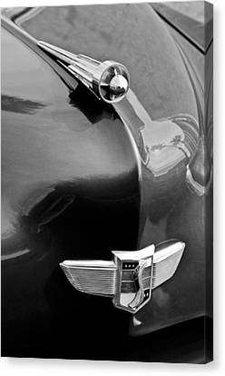 1949 Studebaker Champion Hood Ornament Canvas Print by Jill Reger