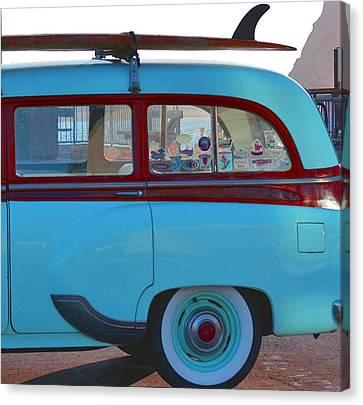 1954 Pontiac Chieftain Station Wagon Canvas Print by Bill Owen
