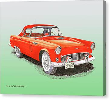 1956 Ford Thunderbird Canvas Print by Jack Pumphrey