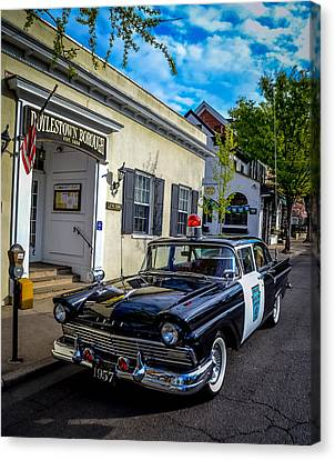 1957 Doylestown Borough Police Cruiser Canvas Print by Michael Brooks