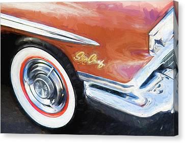 1958 Pontiac Star Chief  Canvas Print by Rich Franco