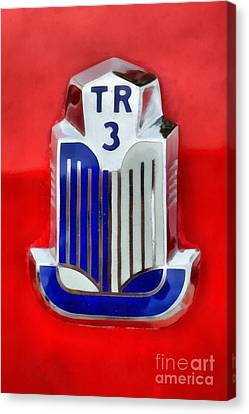 Mascot Canvas Print - 1960 Triumph Tr3 by George Atsametakis