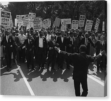 Tntar Canvas Print - 1963 March On Washington. Famous Civil by Everett