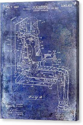 1967 Pilot G Suit Patent Blue Canvas Print