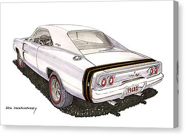 1968 Dodge Charger R T Canvas Print by Jack Pumphrey