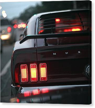 Canvas Print featuring the photograph 1969 Ford Mustang Mach 1 by Gordon Dean II