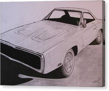 1970 Dodge Charger Canvas Print by Gayle Caldwell