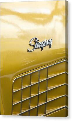 1972 Chevrolet Corvette Stingray Emblem Canvas Print by Jill Reger