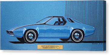 1974 Duster  Plymouth Vintage Styling Design Concept Sketch Canvas Print by John Samsen