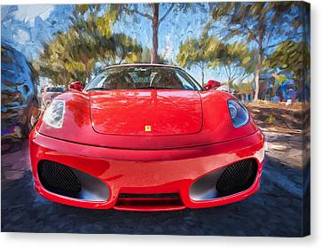 2009 Ferrari F430 Spider Convertible Painted  Canvas Print by Rich Franco