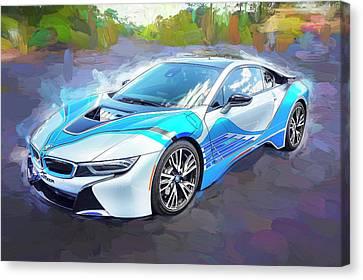 2015 Bmw I8 Hybrid Sports Car Canvas Print by Rich Franco